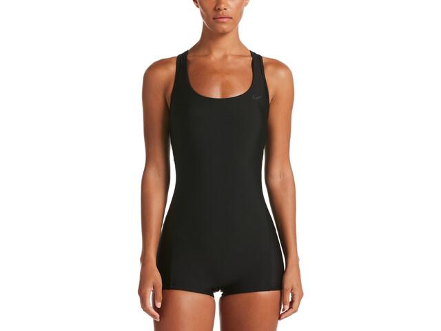 Nike Swim Essential Costume Da Bagno Crossback Boy Leg Un Pezzo Donna, black